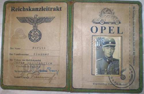 Reichssicherheitshauptamt ID document