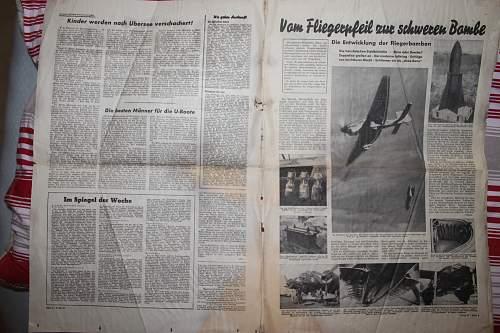 """""""newspaper"""" from Munchen 18 mai 1941"""