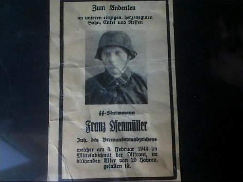 Death Card--Waffen SS Sturmmann in Camo