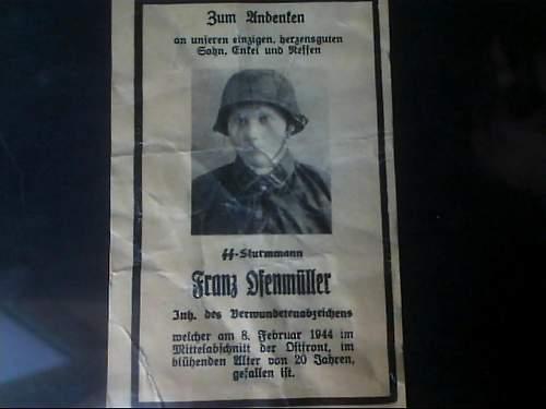 Death Card--Waffen SS Sturmmann in Camo