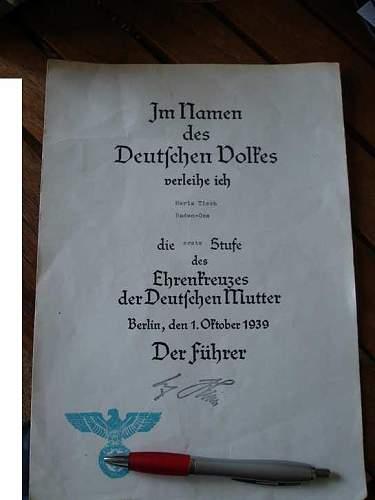 Mother cross document