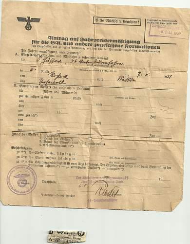 "SS-Wachbataillon Prag"" promotion document"