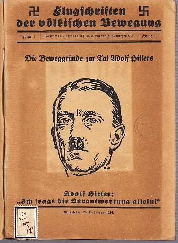1924 Hitler booklet...