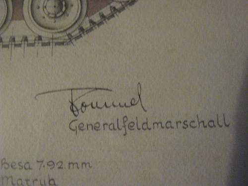 Captured crusader with rommels signature?