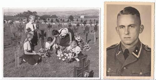 BDM girls attending an SS grave