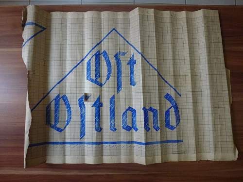 Unknown Large Paper Ost Ostland Triangle Patch