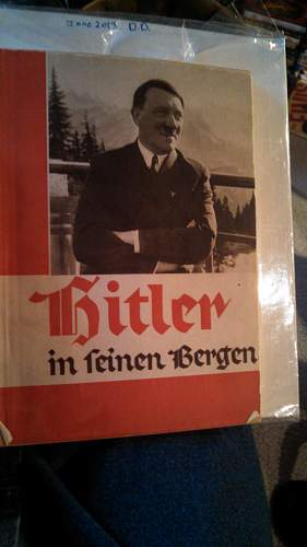 Hitler Book by Hoffman with Hitler Book Plate