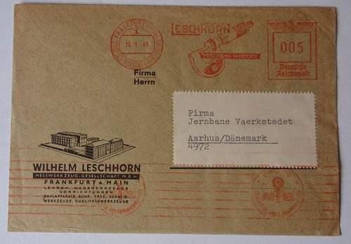 Click image for larger version.  Name:Wilhelm Leschhorn envelope 16-1-1941_1.JPG Views:24 Size:75.5 KB ID:797662