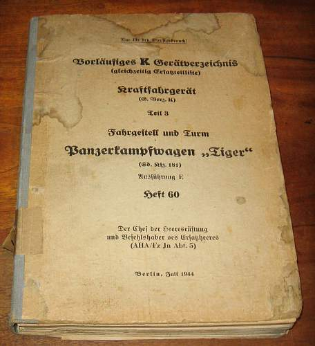 Panzer IV and Tiger manuals