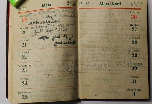 1944 German Diary! Please help I have questions