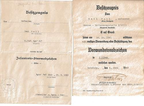2 Besitzzeugnis issued to Paul Gell