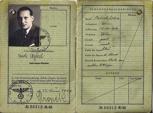 nice war-time passport