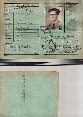 Click image for larger version.  Name:1943 SD stamped Kennkarte.A.jpg Views:57 Size:216.9 KB ID:805191