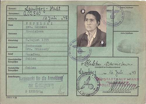 Click image for larger version.  Name:1943 SD stamped Kennkarte.B1.jpg Views:152 Size:209.8 KB ID:805192