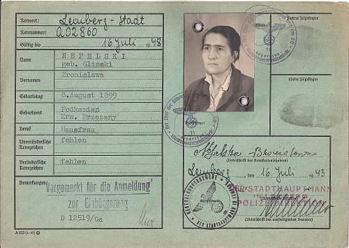 Lemberg SD issued kennkart...