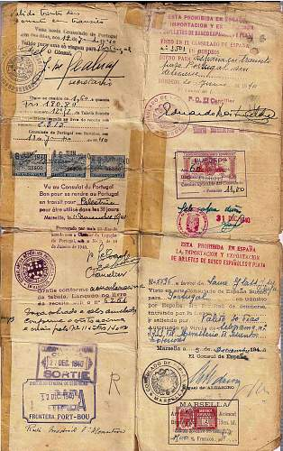 Righteous Among the Nations  issued war-time visa - 1940