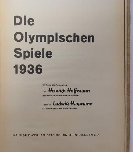 """Stereoscopic book """"Die Olympischen Spiele 1936"""""""