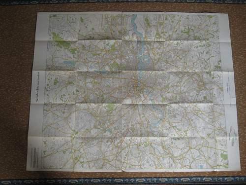 German invasion maps of London