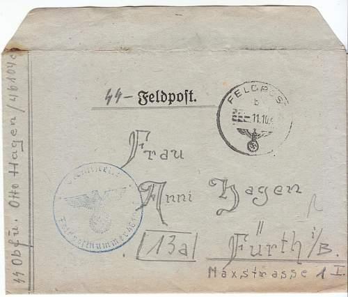 SS Feldpost collection
