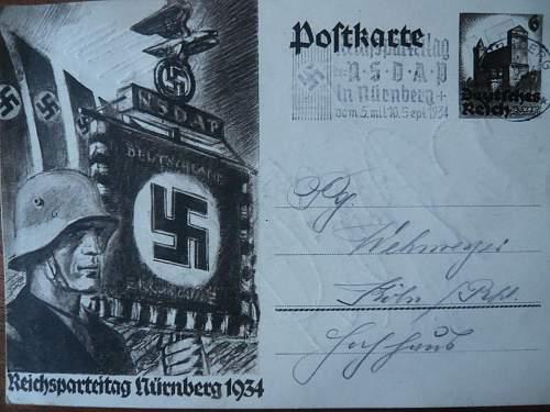 Reichsparteitag Postkarte