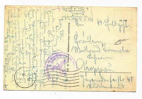 Click image for larger version.  Name:Krakau 1941 SS  Gestapo postcard.jpg Views:63 Size:99.5 KB ID:818132