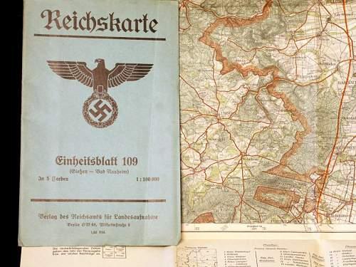 Reichskarte-( Giessen- Bad Nauheim)