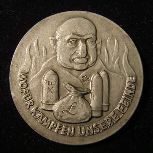 1939 Anti-Semetic Coin or Medal Repro?