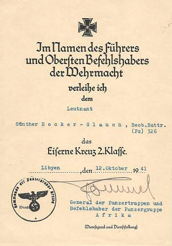 Click image for larger version.  Name:Leutnant Guenther Becker-Glauch DAK Grouping 001.jpg Views:124 Size:160.6 KB ID:842456