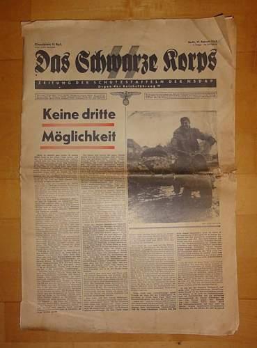 SS newspaper original?