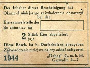 Garwolin coupon 1944