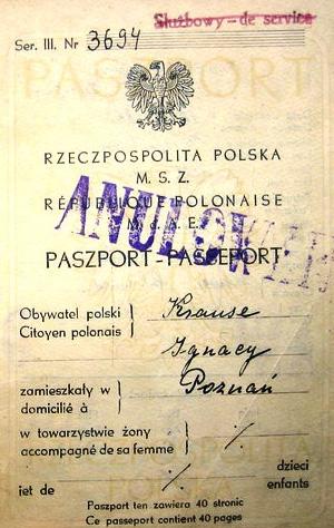 Post-War Polish passport