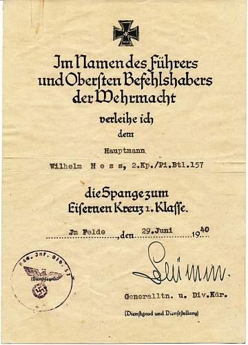 Spange award documents