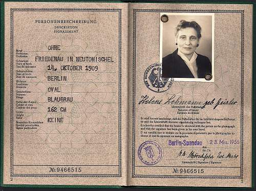 a question about West German passports