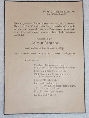 Click image for larger version.  Name:Helmuth Behrens dead in Denmark 1945 at the Lazarett in Aalborg_1.jpg Views:54 Size:121.0 KB ID:871056