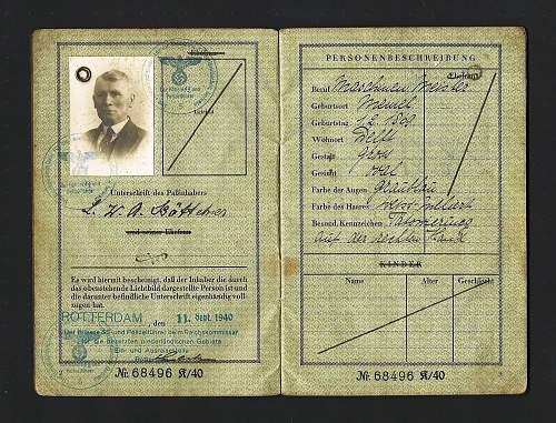 German passport from Holland