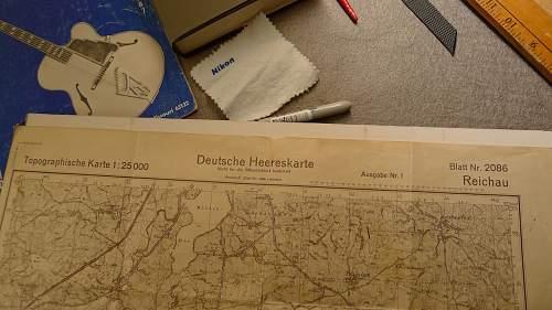1944 Deutsche Heereskarte Reichau, Interessante Nummern, Numerologie?