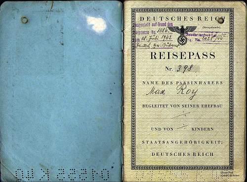 continuing on a German Dienstpass 1944...
