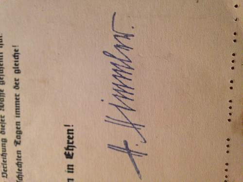 SS HIMMLER Signature? SS Document??? Any help is better than none, New TO WRF :)