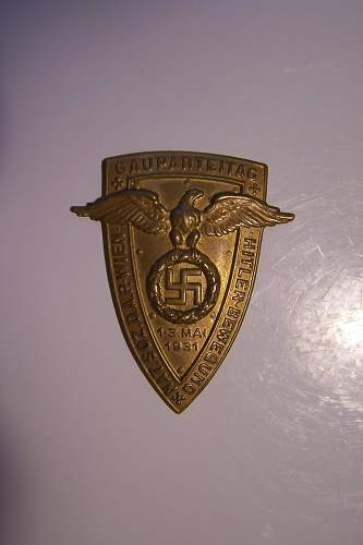 Early 1923 National Socialist Mitglides-Karte, with a twist...