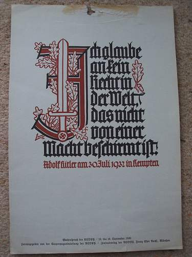 original 1939 German poster - but what is it all abouit?