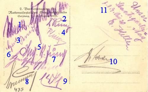 Click image for larger version.  Name:1920 08 Hitler Signed Postcard B Numbered .jpg Views:13 Size:53.9 KB ID:916610