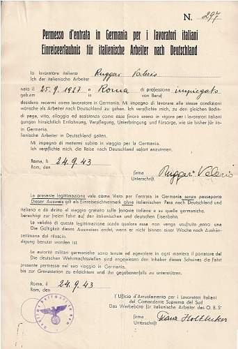 Identifying a German official (?) signature - Rome 1943