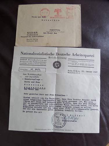 Help need with NSDAP letter