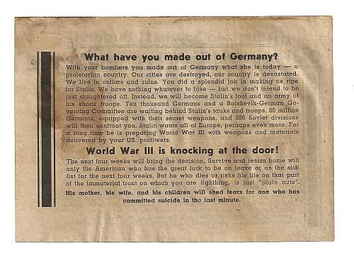 Propaganda Leaflets, Original ??