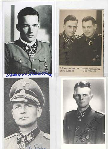 Collection of SS signed postcards