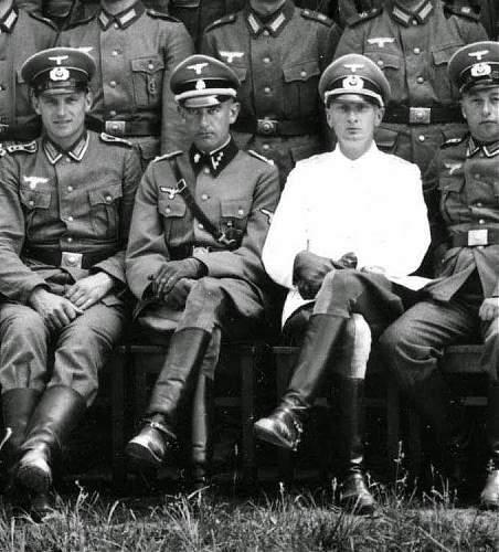 SS-Totenkopf Officer with Heer eagle above breastpocket