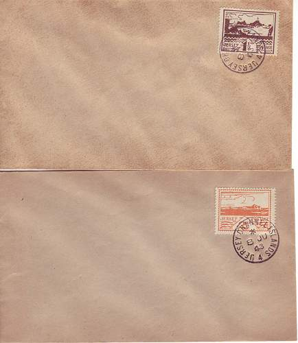 Jersey occupation postage stamps