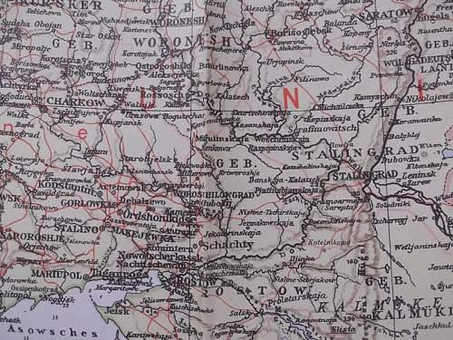 Velhagen & Klasing  Map of Western Russia
