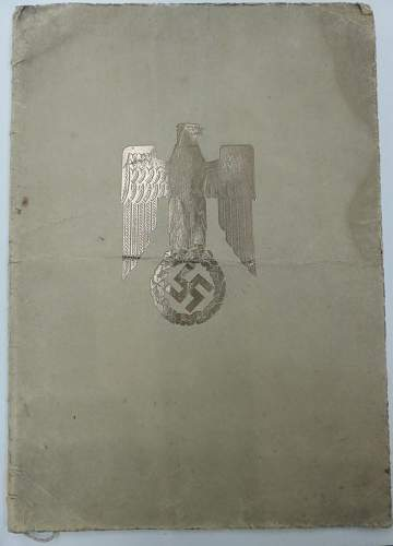 german document for a Major (possibly signed)