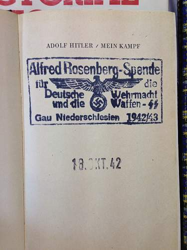 Mein Kampf copy with Alfred Rosenberg stamp - opinions?